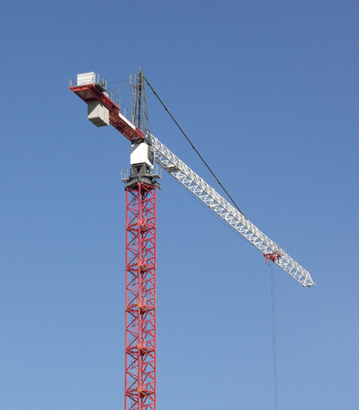 Crane Tower on Sky Background 免版税图像