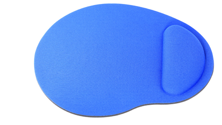 blue Mouse Pad isolated on white background