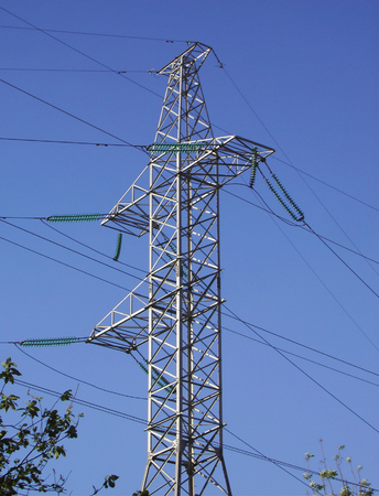 transmission equipment on blue sky Stockfoto - 124118572