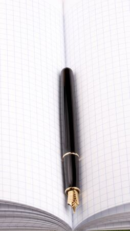 fountain pen on paper notebook Фото со стока