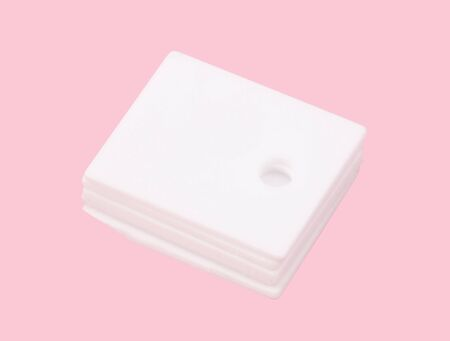 ceramic insulator on isolated Pink Background Stock fotó