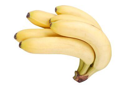 many yellow banana isolated