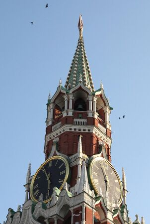 Kremlin tower on sky background in city center Imagens
