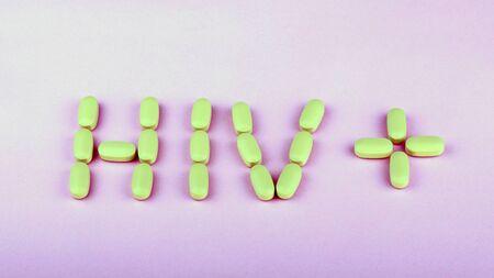 hiv therapy efavirenz on pink background Stok Fotoğraf