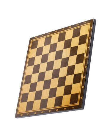 wooden empty chessboard isolated Banque d'images - 129474371