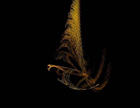 image d'une fractale numérique sur la couleur noire