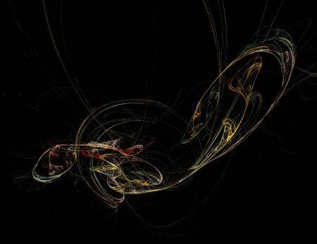 image of one Digital Fractal on Black Color Reklamní fotografie - 131846837