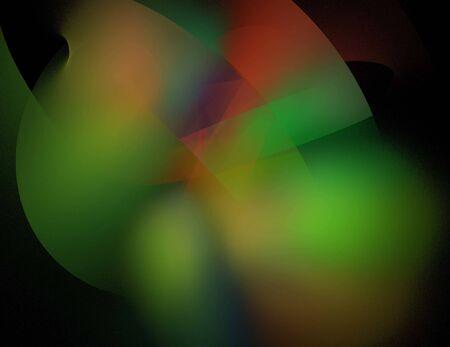 image of one Digital Fractal on Black Color Reklamní fotografie - 131846863