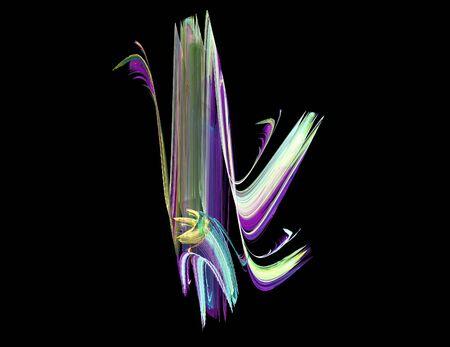 image of one Digital Fractal on Black Color Reklamní fotografie - 131847011