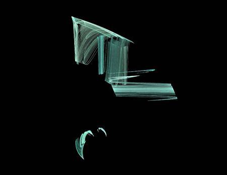 image of one Digital Fractal on Black Color Reklamní fotografie - 131846916