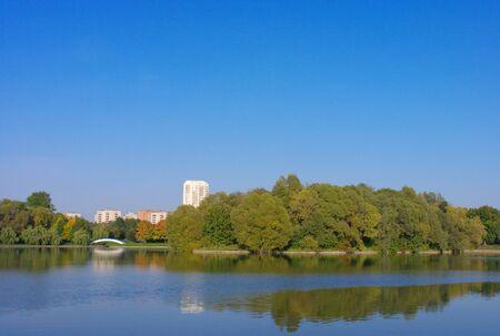 summer in city park