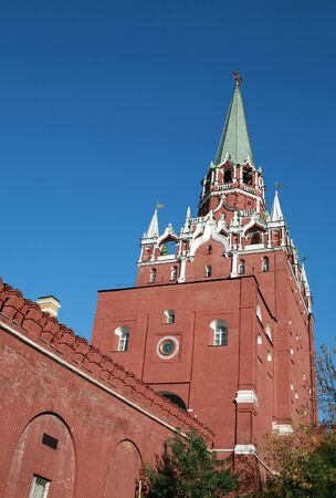 Kremlin tower on sky background in city center Stockfoto
