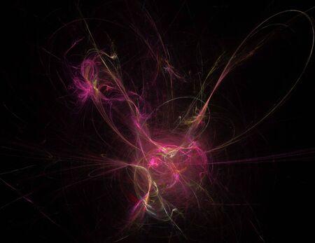 afbeelding van één digitale fractal op zwarte kleur