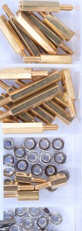 Brass Standoff Spacer set in plastic container
