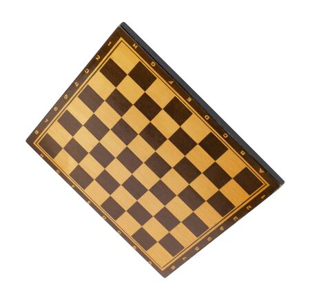 wooden empty chessboard isolated Stock fotó