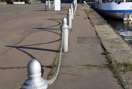 fence of river port Фото со стока