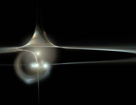 imagen de un fractal digital en color negro