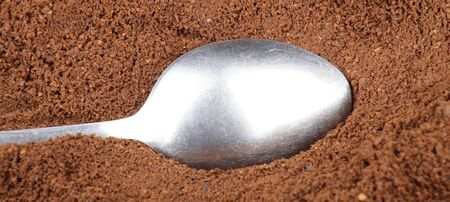 milled coffee  and one teaspoon