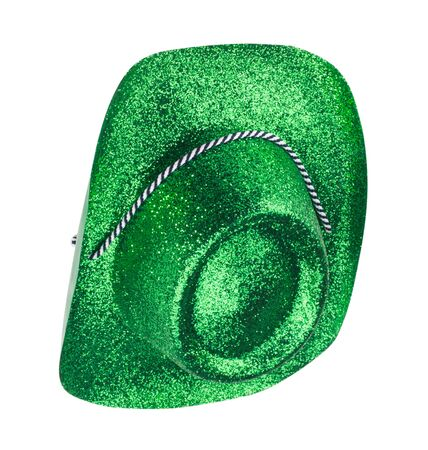 Green Carnival Hat Isolated Banque d'images - 149590899