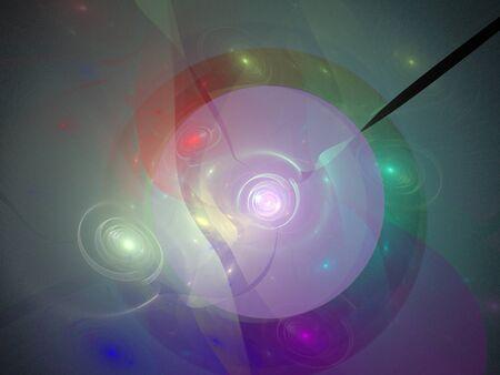 image of one Digital Fractal on Black Color Foto de archivo - 150127118