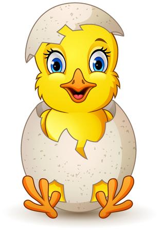 cartoon little chick with egg Foto de archivo - 116619776