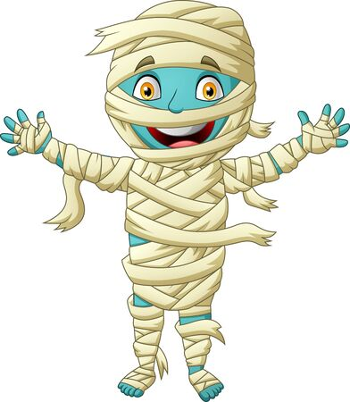 Cute mummy cartoon. Vector illustration Foto de archivo - 129710574