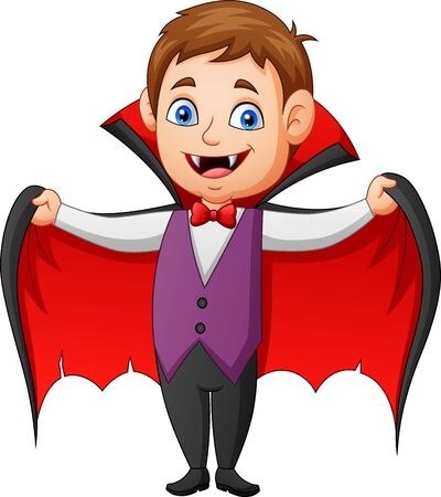 Funny vampire cartoon. Vector illustration Иллюстрация
