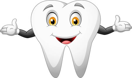Cute cartoon tooth. Illustration