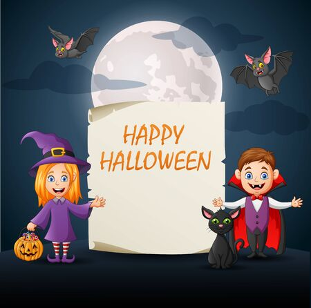 Halloween background with space for your copy. Vector illustration 向量圖像