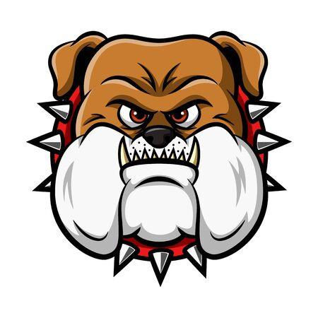Bulldog Head Mascot. Vector illustration Illustration