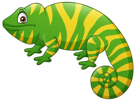 Cute chameleon cartoon. Illustration