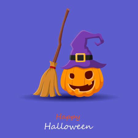 Happy halloween cartoon. Vector Illustration