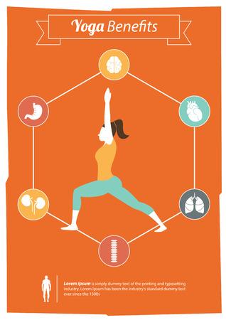 Yoga Benefits Stock Vector - 29267753