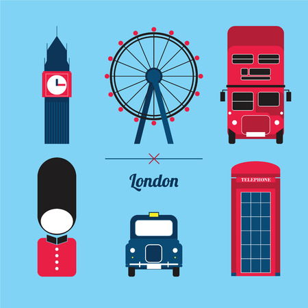 telephone booth: A set of London City Icon