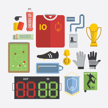 studs: of Football  Soccer Equipment Icon in Flat Design, Vector