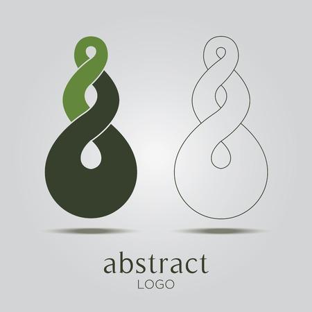 zen stones: Abstract infinite loop icon. Corporate, Media, Vector.
