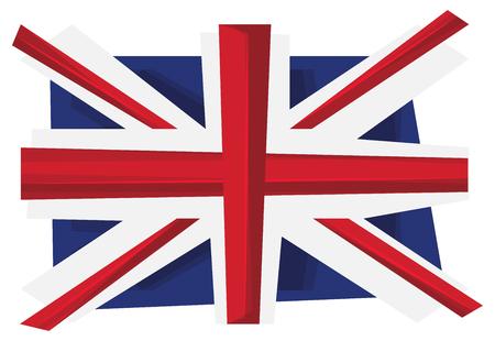 britannia: UK flag of United Kingdom. Union Jack . Vector. Illustration.