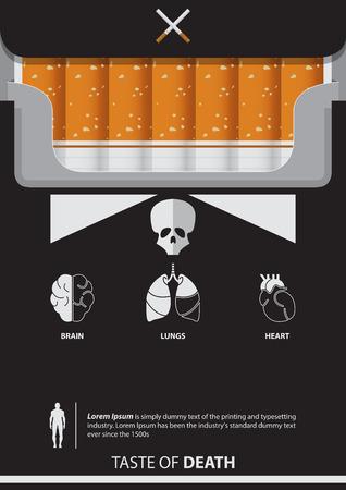 31 일 세계 금연의 날 포스터가있다. 장기 아이콘의 집합입니다. 벡터. 삽화