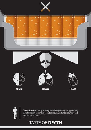 May 31st World No Tobacco Day poster. Set of organ Icons. Vector. Illustration