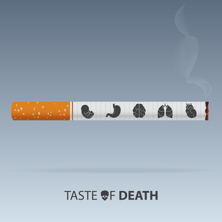 May 31st World No Tobacco Day poster. Poison of cigarette. Vector. Illustration Key Ilustração