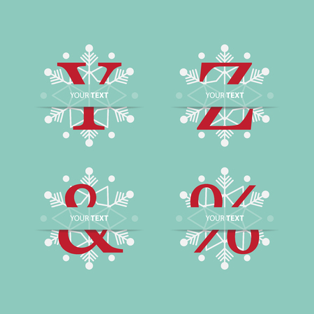 y ornament: Letter Y and Z for Christmas ornament. Typography design. Vector Illustration Illustration