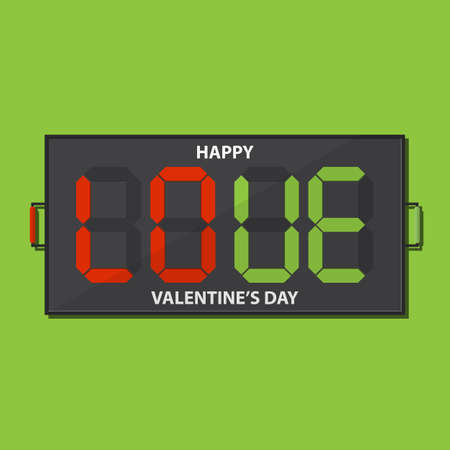 substitution: Football substitution board with LOVE massage on green background for valentines day decoration. Illustration
