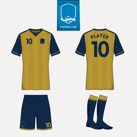 Set of soccer or football kit template for your sport club.