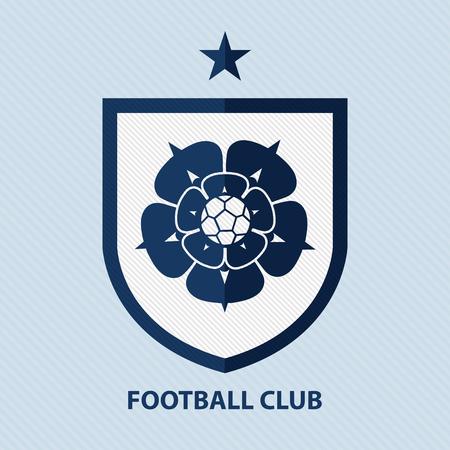 Soccer Football Badge Design Template. Sport Team Identity. Illustration