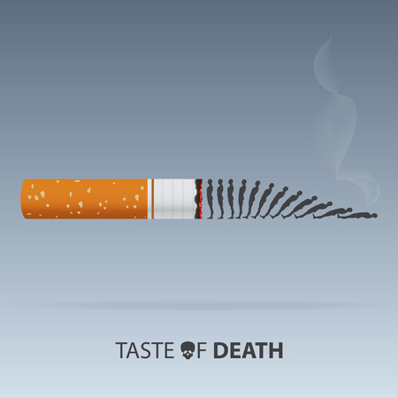 May 31st World No Tobacco Day. Poison of cigarette.  . Illustration.