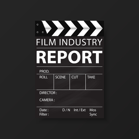 Film industry corporate Identity Templates for flyers brochure. Annual report cover abstract style on container background in a4 size. Cinema Business. Vector Illustration. Stock Illustratie