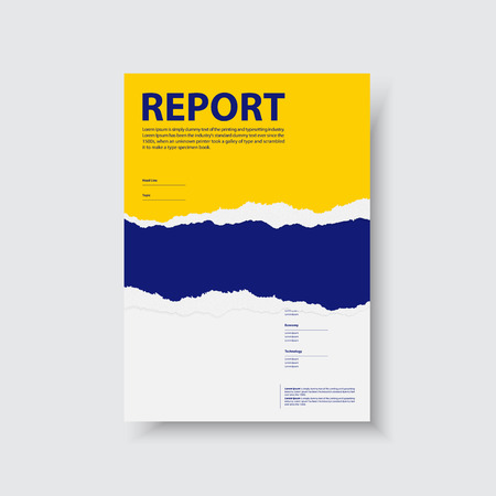 Business corporate Identity Templates for flyers brochure. Annual report cover abstract style on tear paper background in a4 size.