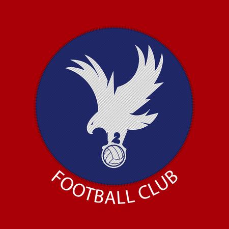 Soccer or football badge logo in flat design. Soccer team Identity.