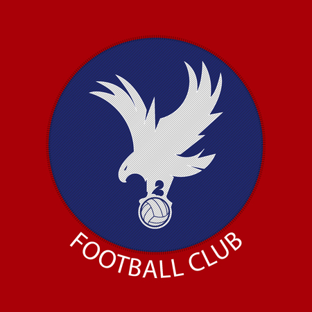 club soccer: Soccer or football badge logo in flat design. Soccer team Identity.