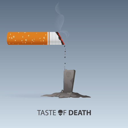 31st: May 31st World No Tobacco Day. No Smoking Day. Poison of cigarette.
